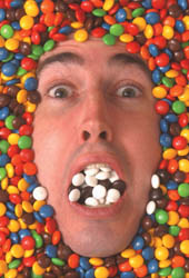 Andrew Ross M&M self-portrait
