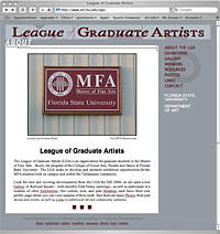 League of Graduate Artists site
